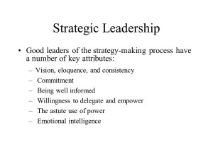 A Wise Leader Understands The Critical Factors of Success