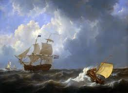 A Ship on Rough Seas