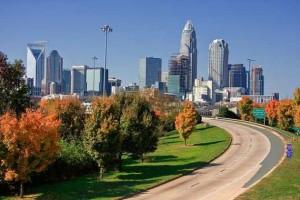 Charlotte with Carolina Blue Skies