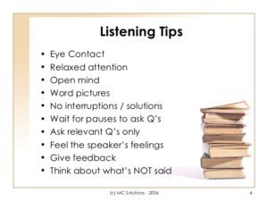 Listening + Communication =