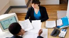 Employer conducting review