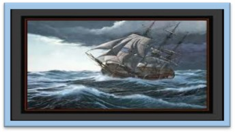 ship on heavy seas
